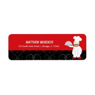 Chef Restaurant Return Address Label