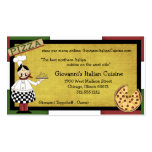 Chef Serving Hot Pizza Business Cards