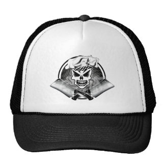 Chef Skull 2 and Crossed Cleavers 2 Trucker Hat