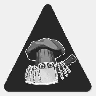 Chef Skull 2 Triangle Sticker