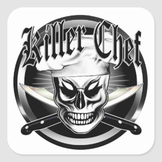Chef Skull 4: Killer Chef Square Sticker