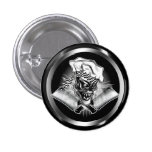 Chef Skull 5 1 Inch Round Button