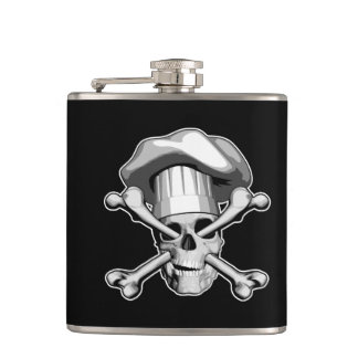 Chef Skull and Crossbones Hip Flask