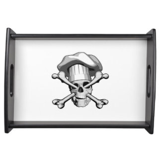 Chef Skull and Crossbones Serving Trays
