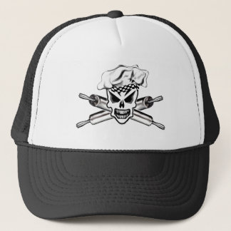 Chef Skull and Crossed Rolling Pins 2 Trucker Hat