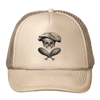 Chef Skull and Drumsticks Hats