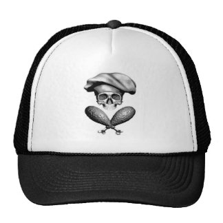 Chef Skull and Drumsticks Mesh Hat