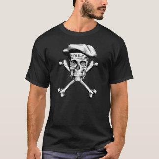 Chef Skull Crossbones: White T-Shirt