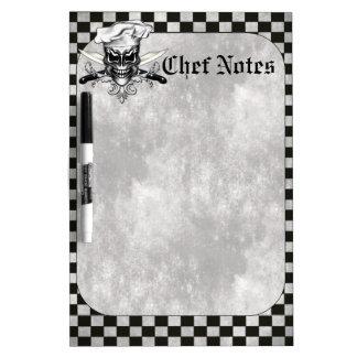 Chef Skull Dry Erase Board