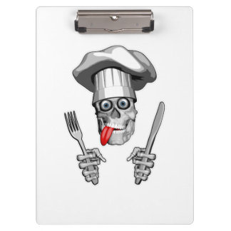 Chef Skull: Knife and Fork Clipboard