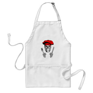 Chef Skull: Knife and Fork Standard Apron