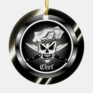 Chef Skull Ornament
