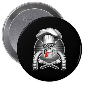 Chef Skull: Picnic 4 Inch Round Button