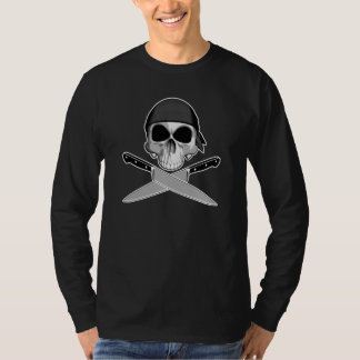 Chef Skull With Bandana T-Shirt