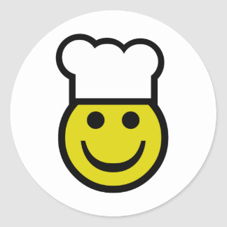 Chef Smiley Classic Round Sticker