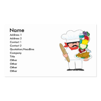 Chef Stack Pack Of Standard Business Cards