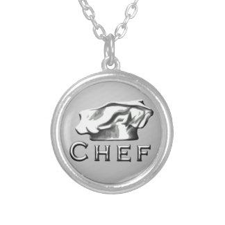 Chef Toque Round Pendant Necklace