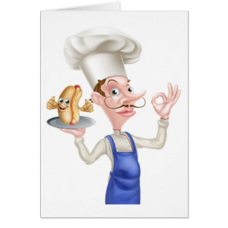 Chef With Perfect Hotdog Card