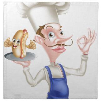 Chef With Perfect Hotdog Napkin