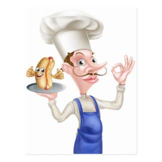 Chef With Perfect Hotdog Postcard