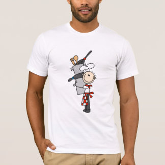 Chef with Pots and Pans Tshirts and Gifts