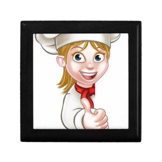 Chef Woman Cartoon Cook Gift Box