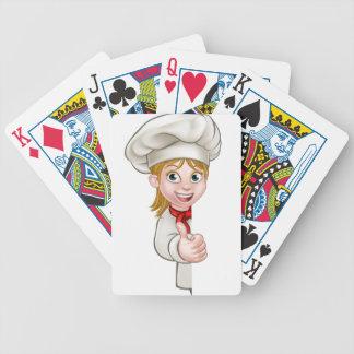 Chef Woman Cartoon Cook Poker Deck