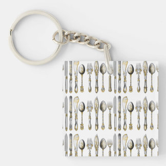 Chefs catering business cutlery keychain