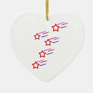 chefs cinq étoiles cinq étoiles de sports de ornement cœur en céramique