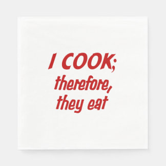Chef's Philosophy Paper Napkins