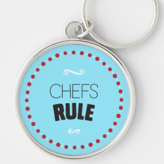 Chefs Rule Keychain – Blue