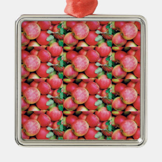 Chefs Salads cuisine fruits apples healthy foods Silver-Colored Square Ornament