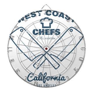 Chefs Vintage T-shirt graphics print Dartboard With Darts