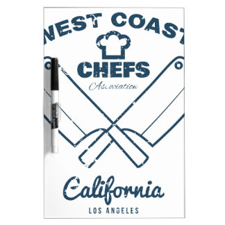 Chefs Vintage T-shirt graphics print Dry Erase Board