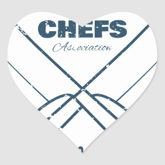 Chefs Vintage T-shirt graphics print Heart Sticker