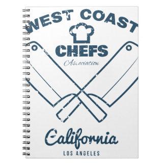 Chefs Vintage T-shirt graphics print Notebooks