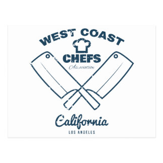 Chefs Vintage T-shirt graphics print Postcard