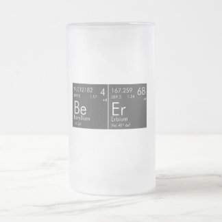 Chemical Beer Frosted Glass Beer Mug