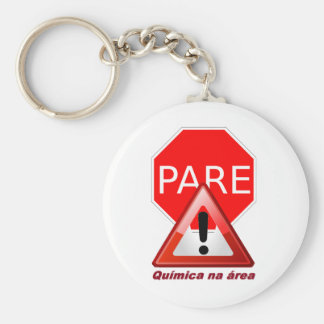 Chemical Chaveiro Pare in the area Basic Round Button Keychain