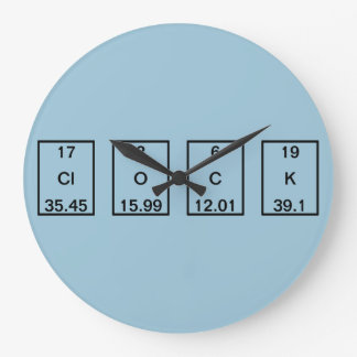 Chemical Elements Chlorine Oxygen Carbon Potassium Large Clock