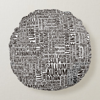 Chemical Elements Round Pillow