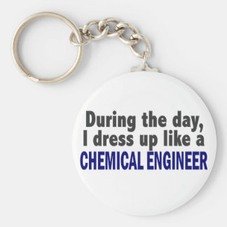 Chemical Engineer During The Day Basic Round Button Keychain