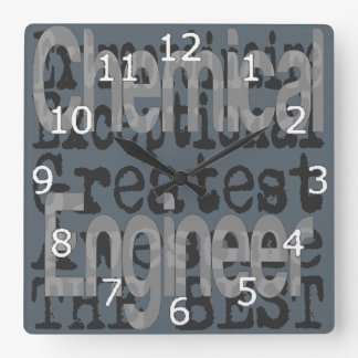 Chemical Engineer Extraordinaire Square Wall Clock