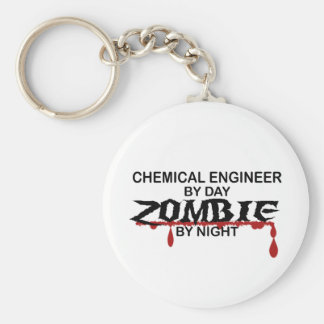 Chemical Engineer Zombie Basic Round Button Keychain