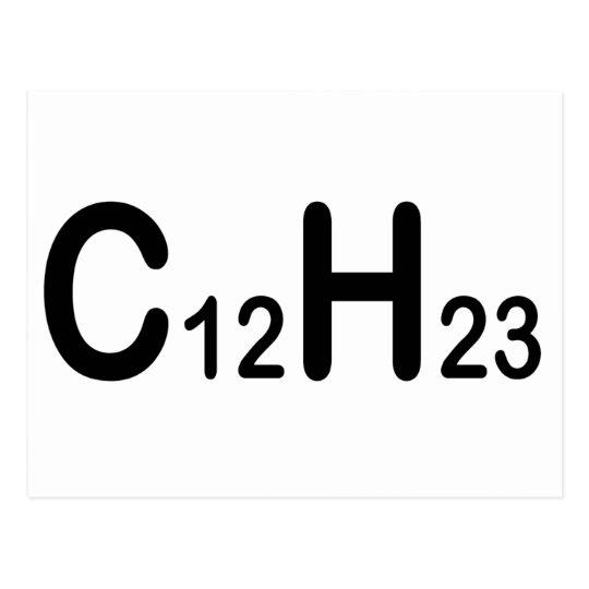 Chemical Formula Of Diesel Fuel Postcard Zazzle