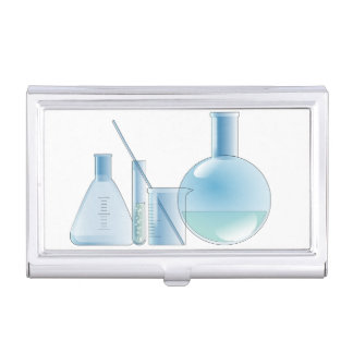 Chemical laboratory business card holder