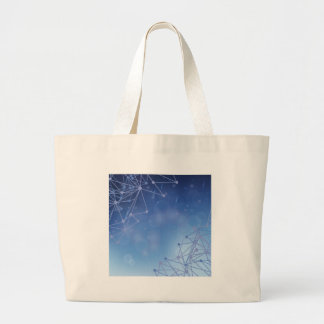 chemical pattern large tote bag