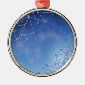 chemical pattern metal ornament