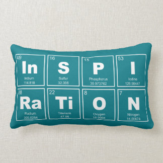 Chemical periodic table of elements: InSPIRaTiON Lumbar Pillow