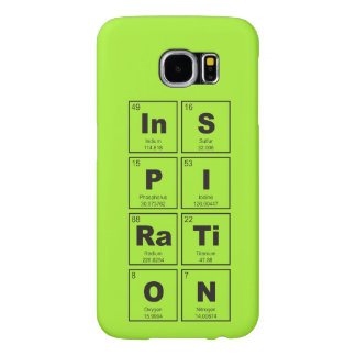 Chemical periodic table of elements: InSPIRaTiON Samsung Galaxy S6 Cases